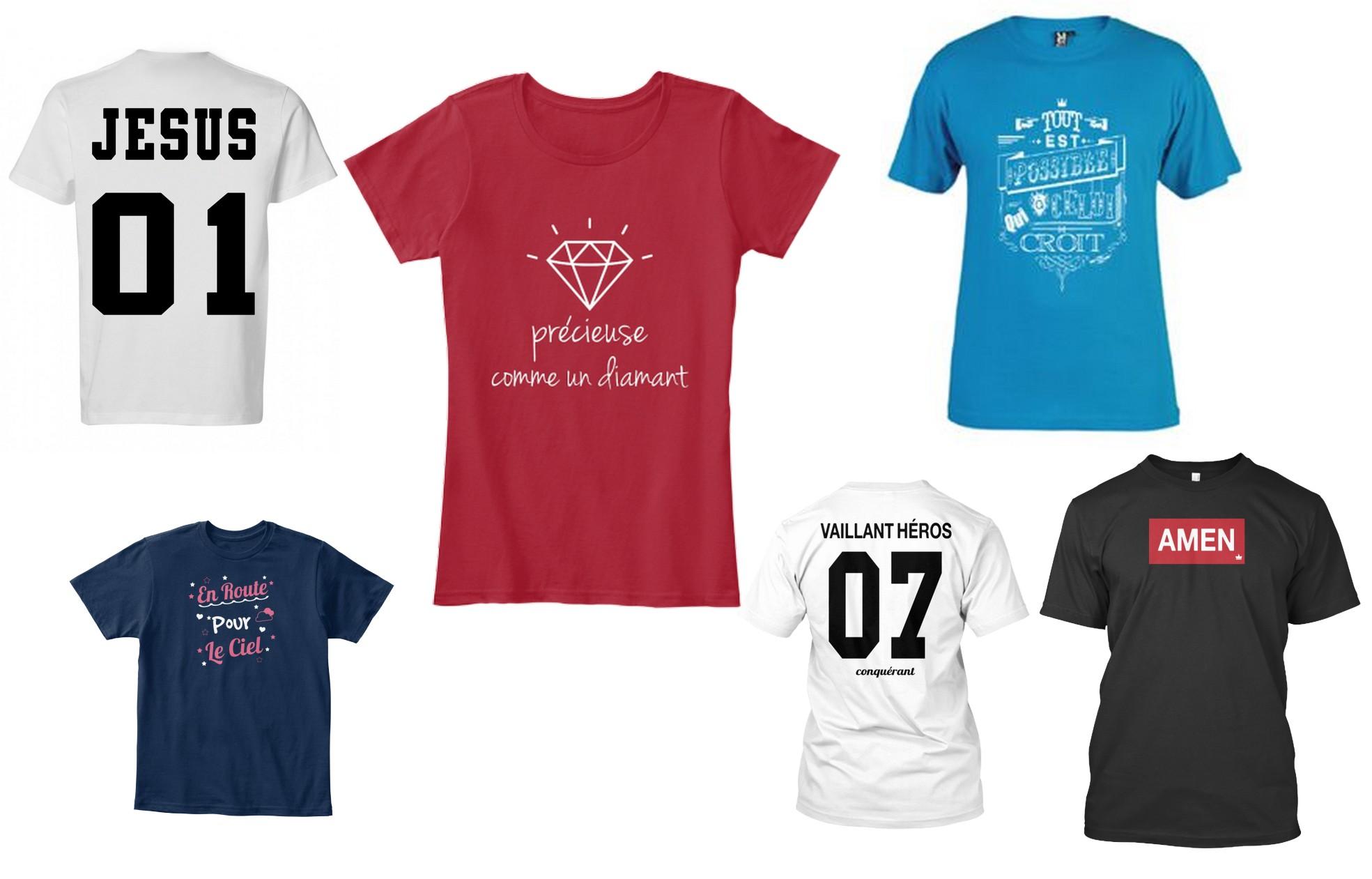 t-shirt chrétien