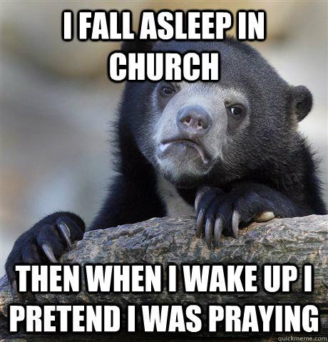 asleep-church