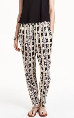 pantalon ample à motif hm
